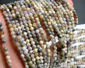 Dendritic Opal - 4mm round beads - full strand - 95 beads - RFG410