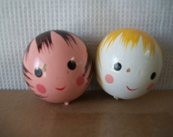 Vintage Wood Doll Heads for Crafts