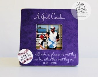 Baseball Coach Picture Frame, Personalized Coach Picture Frame, Personalized Baseball Frame