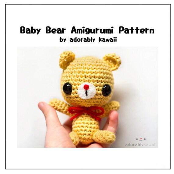 Amigurumi Baby Bear : Baby Bear Amigurumi Crochet Pattern, Bear Amigurumi Plush ...