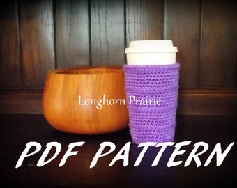 Coffee Cup Cozy crochet PATTERN pdf (instant download)