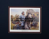 Civil War General Nathan Bedford Forrest Matted Print Watercolor