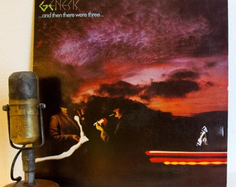"ON SALE Genesis (with Phil Collins) Vinyl Record Album Vintage 1970s Progressive Rock Classic Rock ""...And Then There Were Three..."" (1978 A"