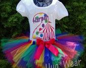Circus Tent Carnival Birthday Shirt + Tutu Outfit (any age) More options available