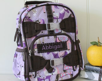 Mini Backpack With Monogram Pottery Barn (Mini Size) -- Lavender Horse
