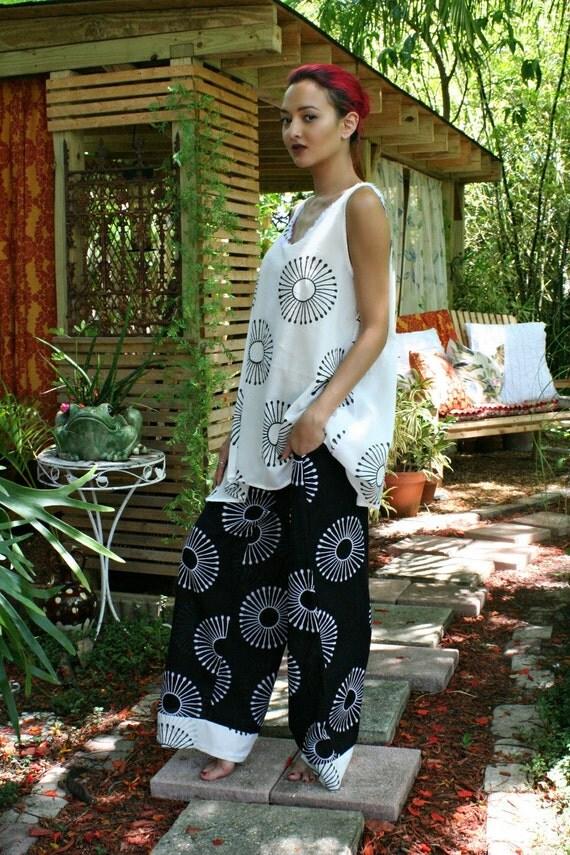 100% Cotton Pajama Exclusive Limited Edition Block Print Sleepwear Lingerie Lounge Cruise Honeymoon Indian Summer