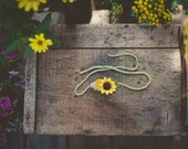 Sunflower tie back Headband