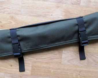 Native Flute Whistle Case, Shakuhachi Drumstick Bag Pennywhistle Pipe, Medicine Pouch - Plush Lined - Roll Up Wrap - 18 Inches Long