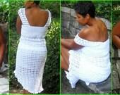 Crochet Skirt - Crochet 2 Piece - Crochet Set - Bella - Plus Size Clothing - Plus Size Crochet - Crochet Dress - Crochet Tank - Guchet