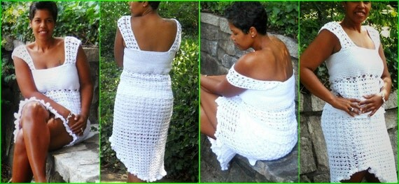 Crochet Skirt - Crochet 2 Piece - Crochet Set - Bella - Plus Size Clothing - Plus Size Crochet - Crochet Dress - Crochet Tank - Guchet