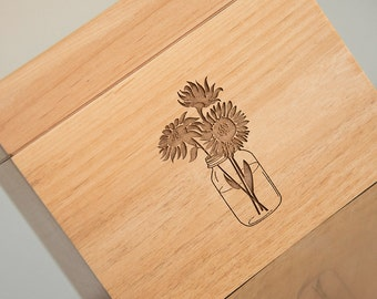 Sunflower Recipe Box