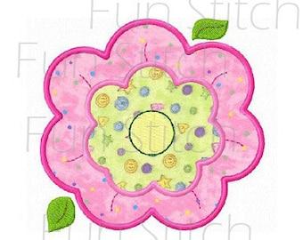 daisy flower applique machine embroidery design