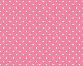 Hot Pink Swiss Dot Fabric by the Yard Riley Blake Designs