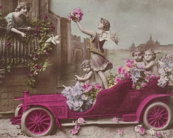Chariot of Love, Cartoony Romance, circa 1905