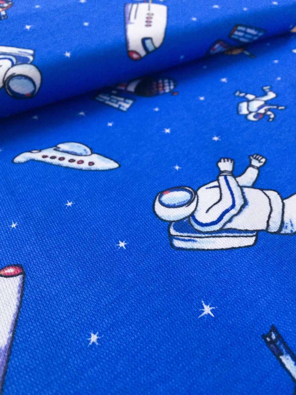 Outer space cotton knit fabric for Outer space fabric by the yard