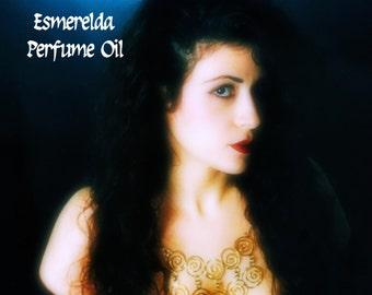 ESMERELDA Perfume Oil - Sandalwood, Amber, Cloves, Herbs, Firewood - Gypsy perfume - Gothic perfume oil