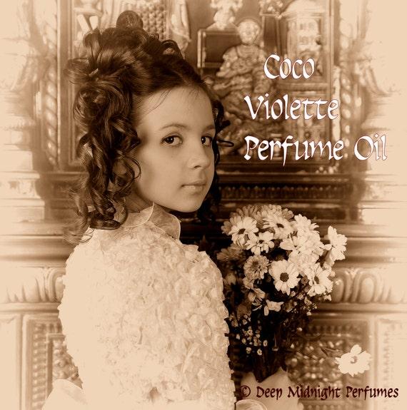 COCO VIOLETTE Perfume Oil - Violets, Milk Chocolate, Creamy Vanilla - Victorian Perfume - Edwardian Perfume