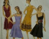 Flared Dress Pattern, Laura Ashley, Sleeveless, Four Necklines, Princess Seams, McCalls No. 5232 Size 6 8 10 12 14