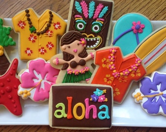 Hawaiian Luau Sugar Cookie Collection