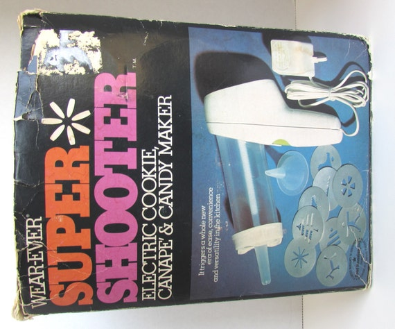 Wear ever super shooter vintage electric cookie canape candy for Canape maker
