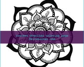 Mandala Coloring Page 0115 - Instant Download