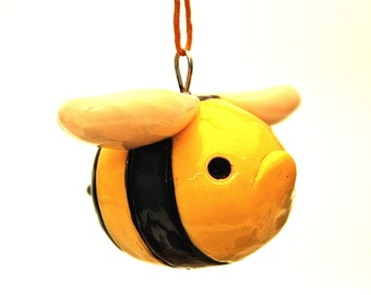 Grumpy Bumble Bee Christmas Ornament