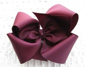 2902 large Texas A&M Aggie maroon boutique bow