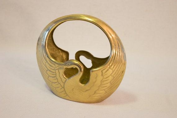 Sale Unique Vintage Brass Home Decor Swan By Tastecannotbetaught