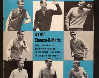 Vintage Knitting Pattern Styles Book Men's Classics 1966