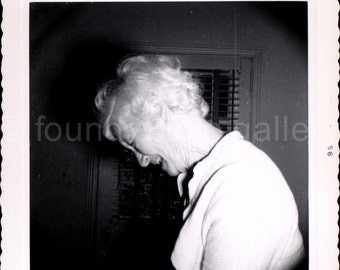 Vintage Photo, Elderly Woman Laughing, Black & White Photo, Found Photo, Family photo, Snapshot, Old Photo, Vernacular Photo