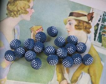 Vintage Bubbly Blue/White Buttons...1940..lot 30