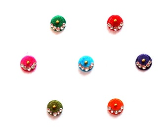 Indian Forehead Dot Bindi Self Adhesive Crystal Colorful