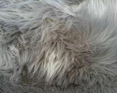Smokey Gray Faux Fur