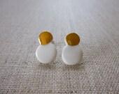 Snowman Stud Earrings...