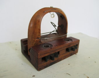 Vintage Wooden Textile Weaving Shuttle - Sewing Room Decor - Studio Decor