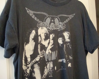 Vintage Aerosmith 1989 1990 Concert Tour Rare BOSTON GARDEN T Shirt L