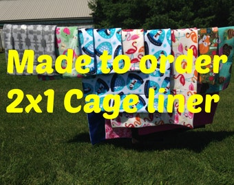 MADE TO ORDER Reversible Cage Liner 2x1 for Guinea Pig Hedgehog Small Animals