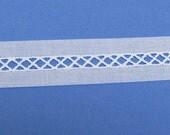 White Swiss Bridging Insertion - Heirloom Sewing Supplies - Doll Dress Supplies