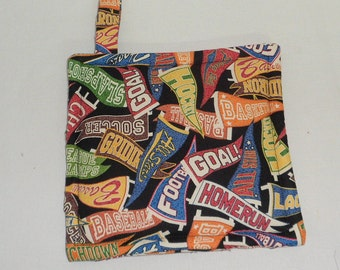 Pot Holders Sports Fabric Potholders Triple Insulated Pot Holders Gift for Men Gift for Chef