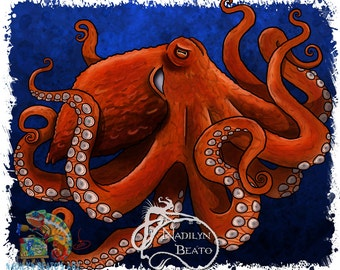 Octopus Daily Creature Prints