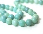 Amazonite Beads, 10mm round natural gemstone bead, FULL strand 840S