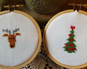 "Holiday Ornament 3"" Cross Stitch Gift Set"
