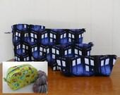 Custom Order for Yessiri - TARDIS Boxy Knitting WIP Bag - Do NOT buy unless Yessiri
