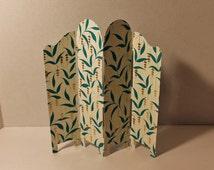 Dark Teal Aqua Turquoise Folding Screen