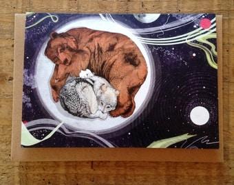 Moon // Greeting Card