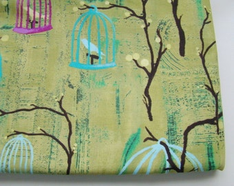 Hanging Cages Lantern Bloom Collection Fabric, Laura Gunn for Michael Miller, OOP