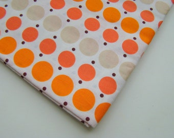Katie Jump Rope Fabric by Denyse Schmidt for Free Spirit, Orange Dots, OOP, Rare, Fat Quarter