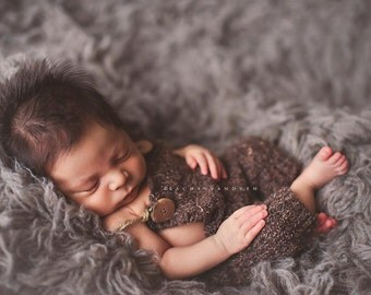 Leighton Heritage 4'x6' Genuine Flokati Newborn Photography Wool Posing Prop Neutral Grey Gray Layering Bean Bag Floor Cover Nursery Rug