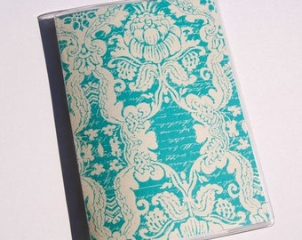 PASSPORT COVER - Teal Bohemian Boutique. Passport Holder, Passport Case, Travel Wallet, Gift For Her, Travel Gift Idea, Wedding Gift