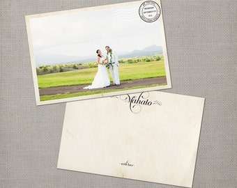 """Wedding Thank You Cards / Thank You Note Cards / Vintage cards / thank you card / Thank You Mahalo Card - the """"Penny 2"""""""